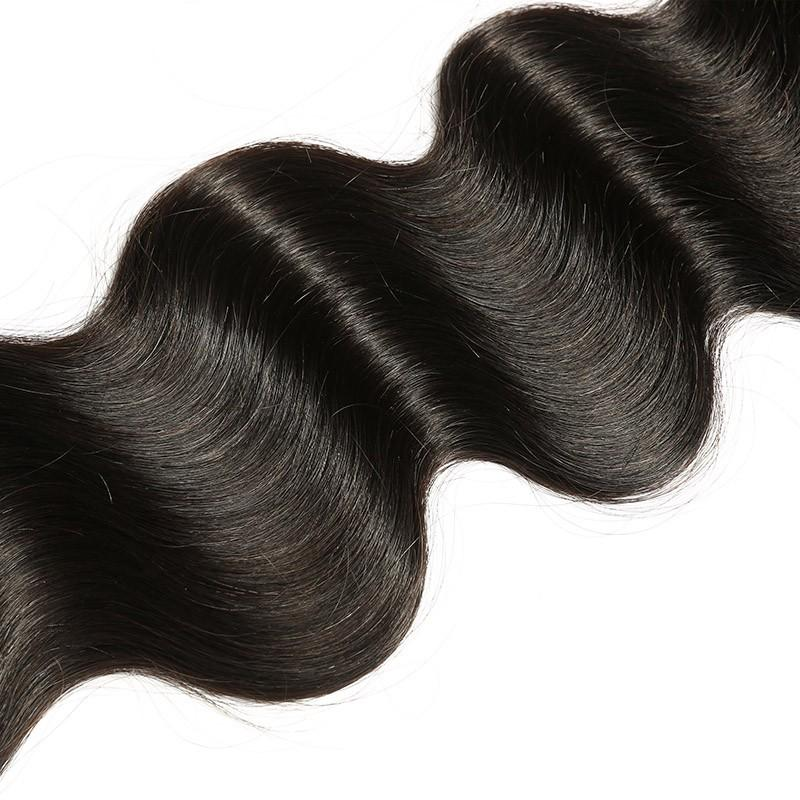 10 – 30 Inch Peruvian Virgin Hair 100% Human Hair Body Wave (#1B Natural Black)