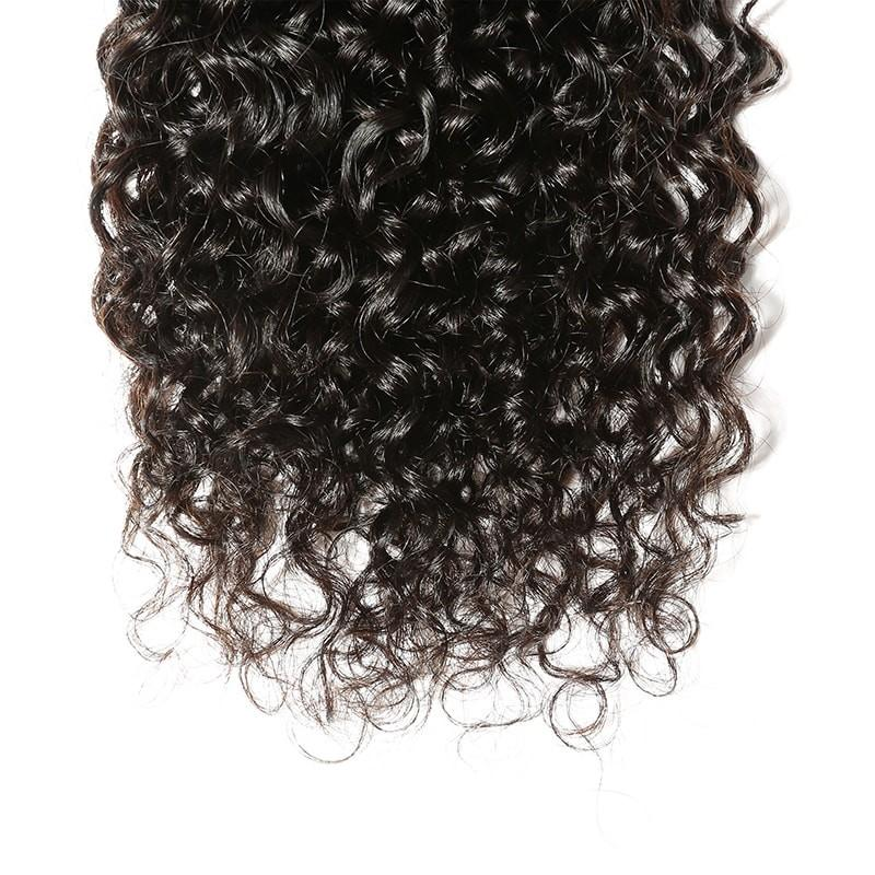 10 – 30 Inch Brazilian Virgin Hair 100% Human Hair Curly (#1B Natural Black)