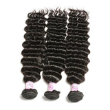 10 – 30 Inch Indian Virgin Hair 100% Human Hair Deep Wave (#1B Natural Black)