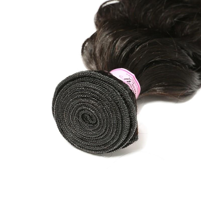 10 – 30 Inch Malaysian Virgin Hair 100% Human Hair Deep Wave (#1B Natural Black)