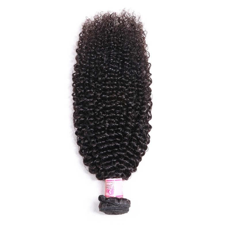 10 – 30 Inch Brazilian Virgin Hair 100% Human Hair Kinky Curly (#1B Natural Black)