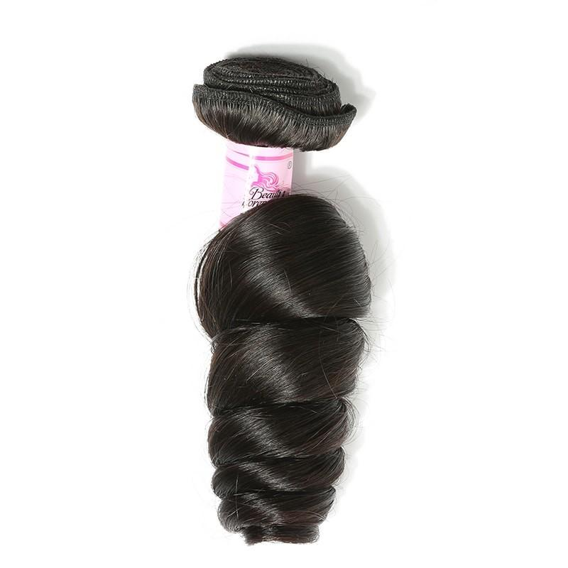 10 – 30 Inch Peruvian Virgin Hair 100% Human Hair Loose Wave (#1B Natural Black)