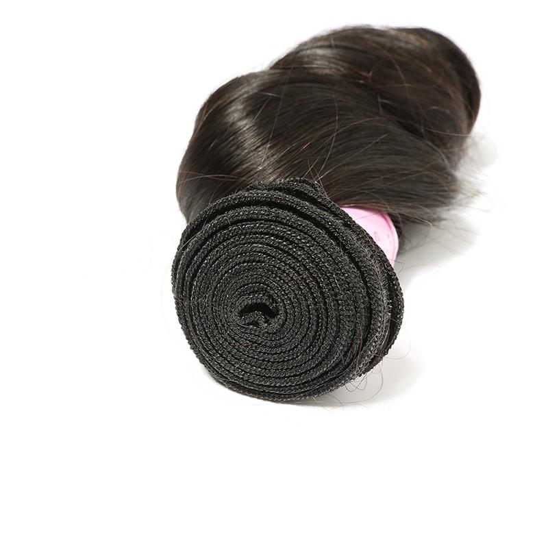 10 – 30 Inch Brazilian Virgin Hair 100% Human Hair Loose Wave (#1B Natural Black)