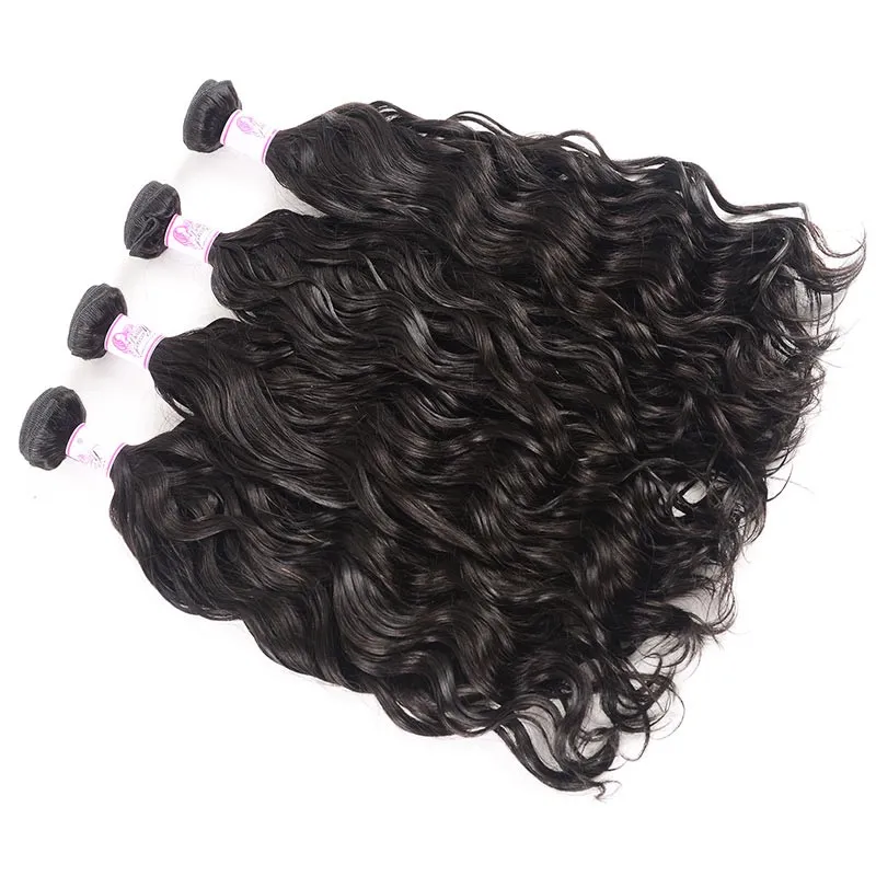 10 – 30 Inch Malaysian Virgin Hair 100% Human Hair Natural Wave (#1B Natural Black)