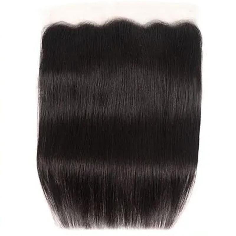 Virgin Hair 3 Bundles with Lace Frontal Straight Hair 100% Human Hair