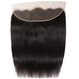 Virgin Hair 4 Bundles with Lace Frontal Straight Hair 100% Human Hair