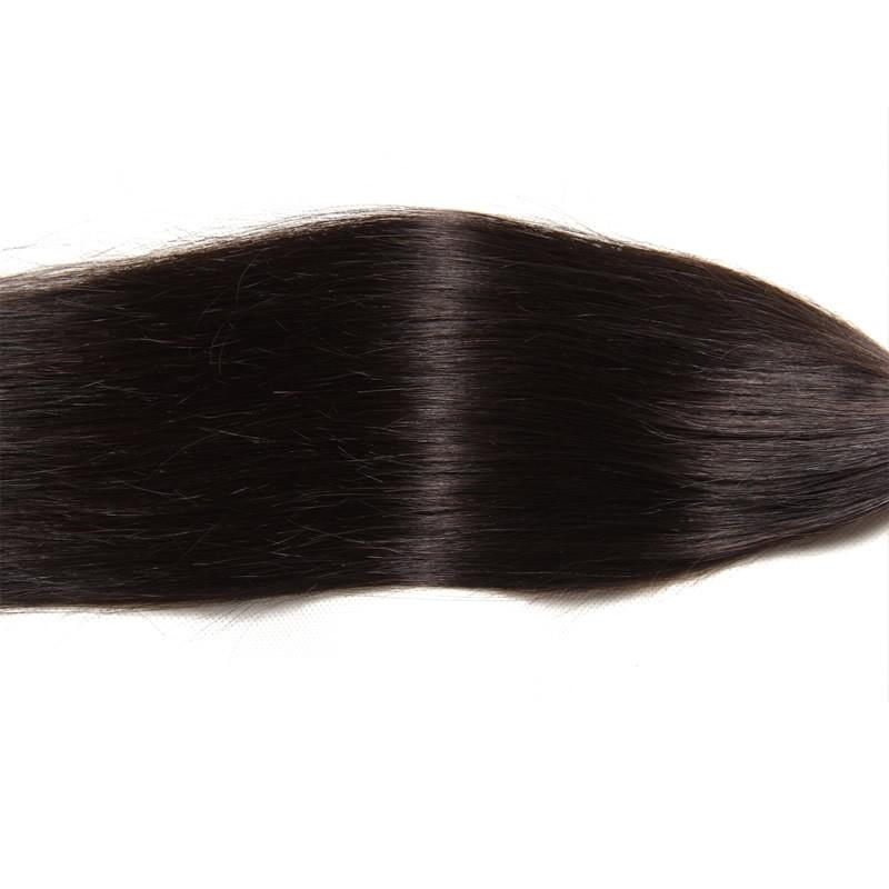 10 – 30 Inch Brazilian Virgin Hair 100% Human Hair Straight (#1B Natural Black)