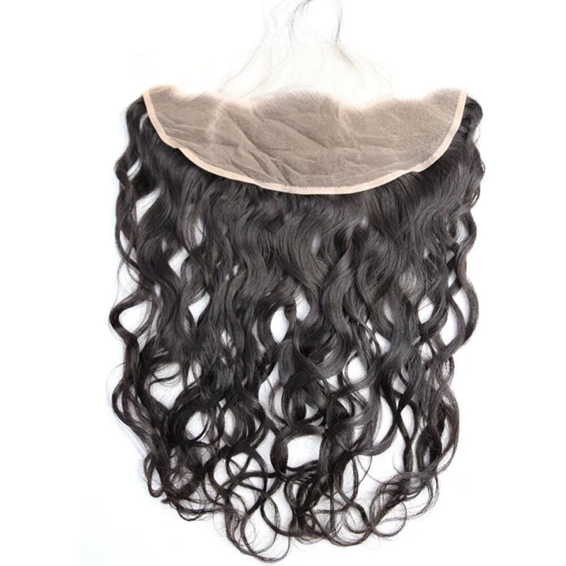 Virgin Hair 3 Bundles with Lace Frontal Water Wave Hair 100% Human Hair