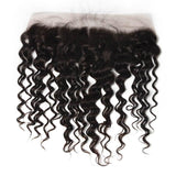 10 – 20 Inch Virgin Hair Water Wave Lace Frontal (#1B Natural Black)