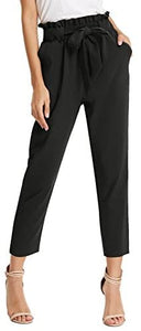 Tie Waist Cropped Pants