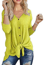 Load image into Gallery viewer, Waffle Knit Tunic Blouse