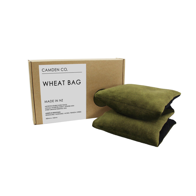Olive green velvet heat pack