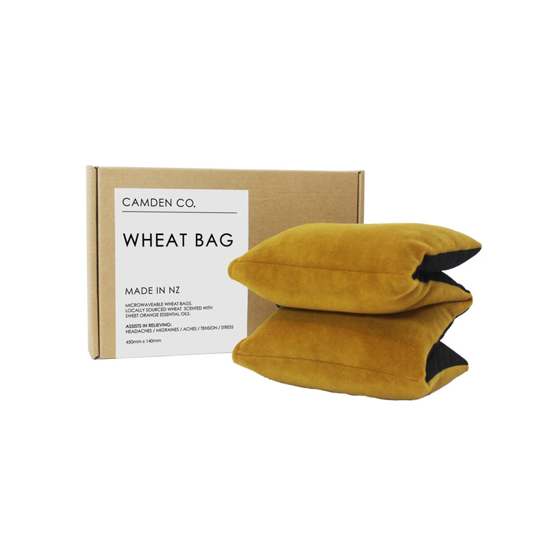 Mustard yellow velvet heat pack