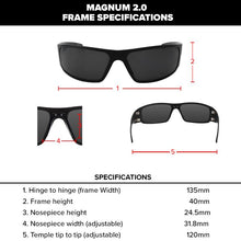 Load image into Gallery viewer, Magnum 2.0 (Asian Fit) Black with Smoked Polarized Lens