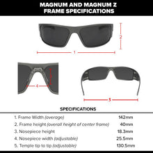 Load image into Gallery viewer, Magnum - Black with Brown Polarized Lens