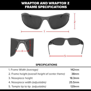 Wraptor - Black with Smoked Lens