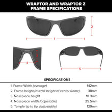 Load image into Gallery viewer, Wraptor - Black with Smoked Polarized Lens