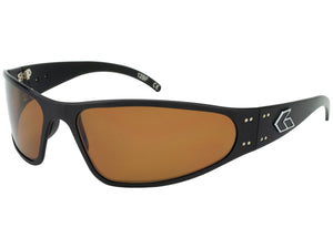 Wraptor - Black with Brown Polarized Lens