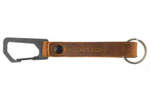 Load image into Gallery viewer, Trayvax KEYTON CLIP | CARABINER KEYCHAIN-Black / Tobacco Brown