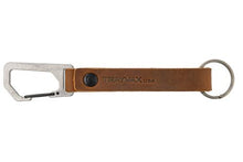 Load image into Gallery viewer, Trayvax KEYTON CLIP | CARABINER KEYCHAIN-Raw / Tabacco Brown