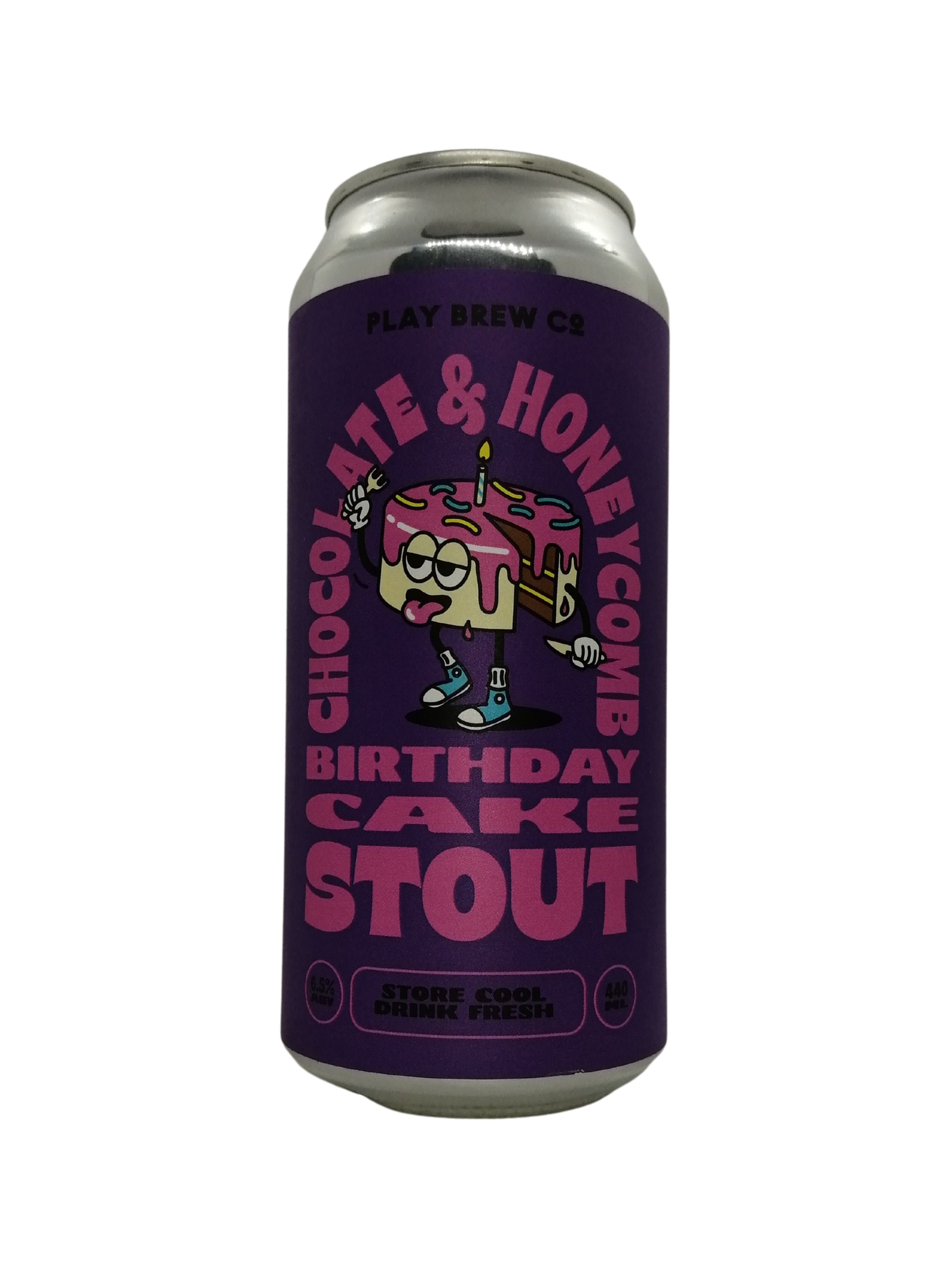 Play Brew - Chocolate & Honeycomb Birthday Cake Stout - Stout - 6.5% (Brand New)