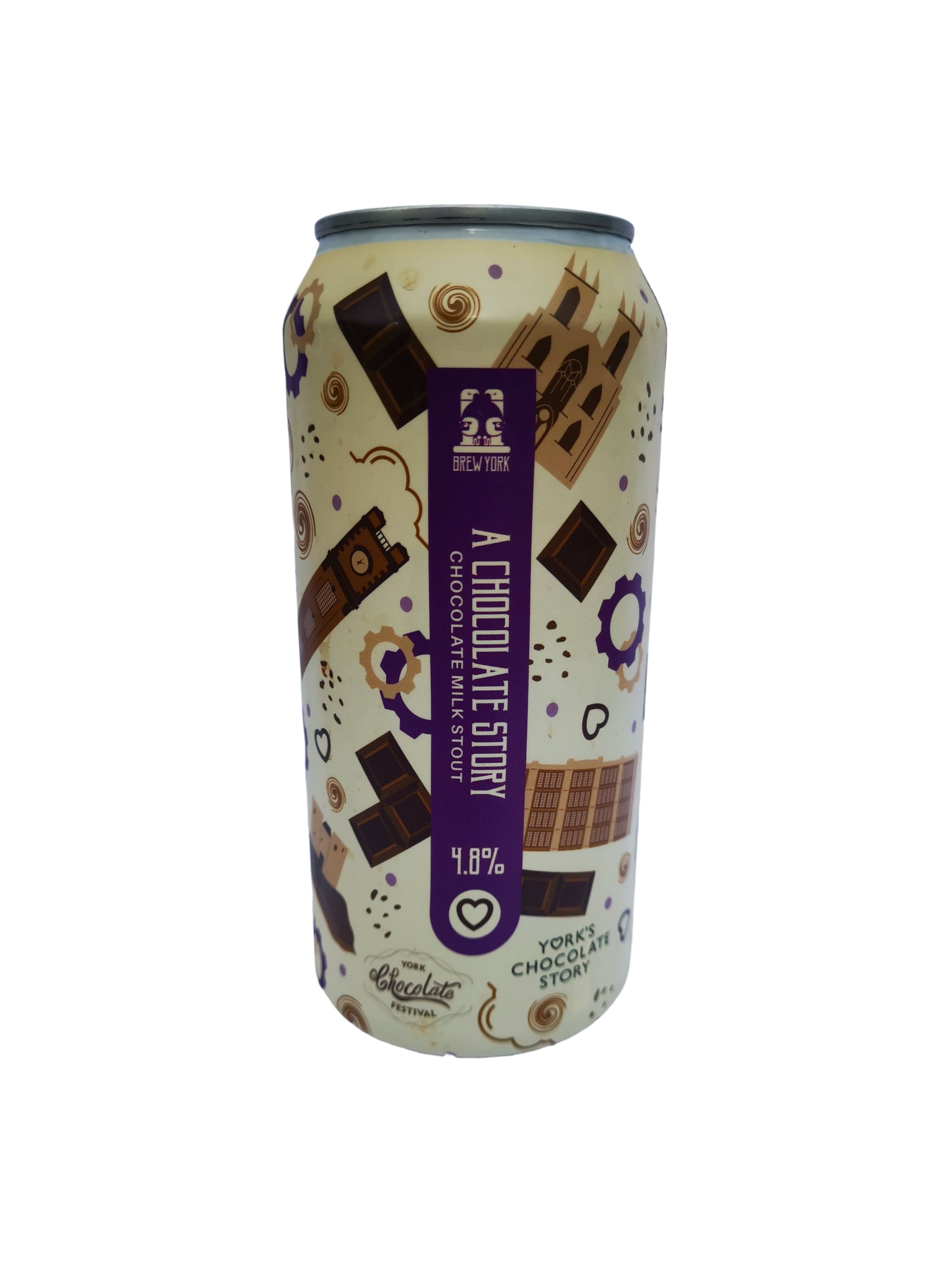 Brew York - A Chocolate Story - Stout - 4.8% (3.96 UT)