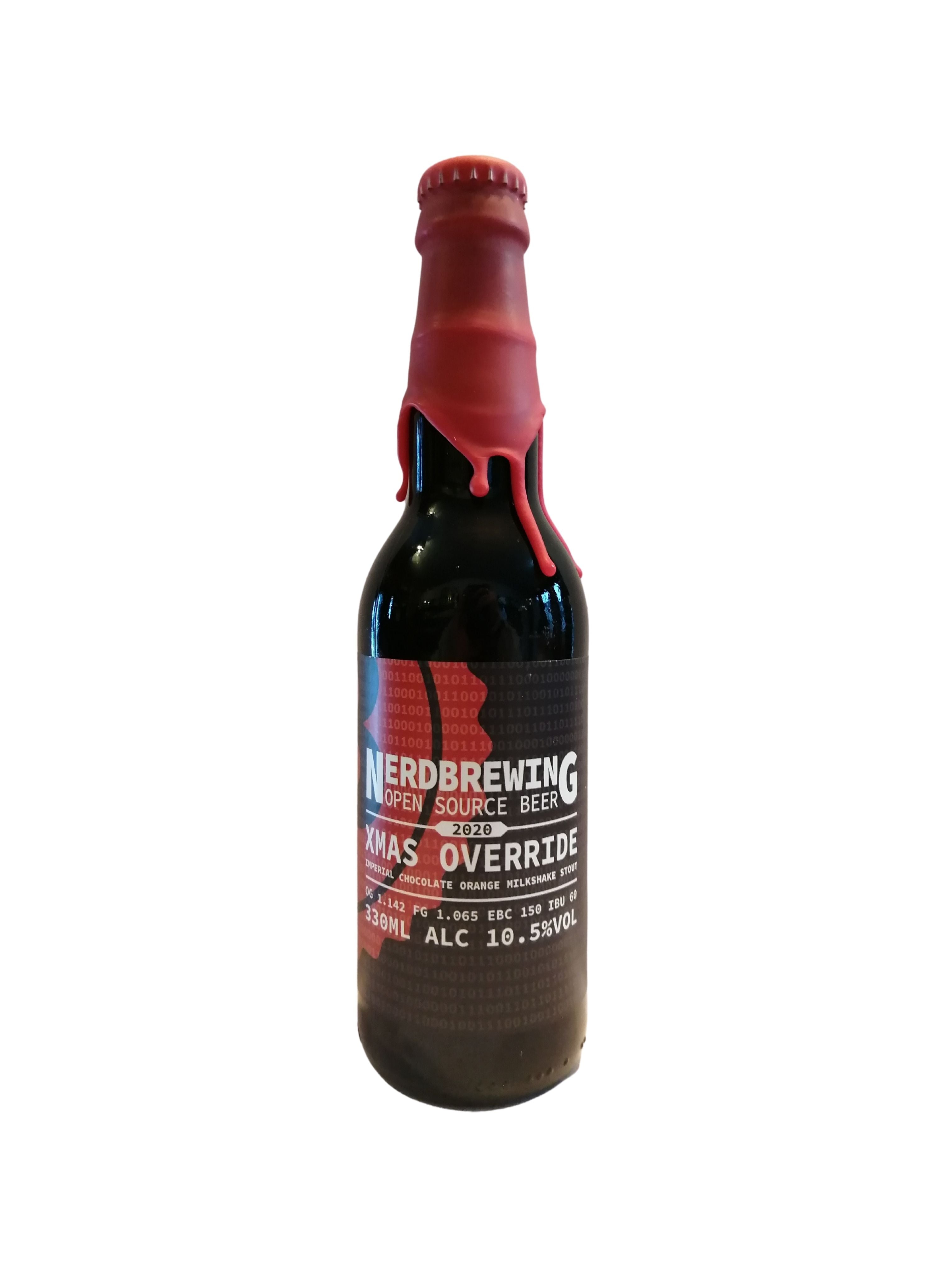 Nerd Brewing - Xmas Override Imperial Chocolate Orange Milkshake Stout (2020) - Imperial Stout - 10.5% (Brand New)
