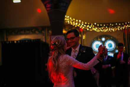 Happy Couple, Tim and Anna. Luna Bride Bespoke wedding Dress. Harrogate.