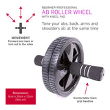 66fit Ab Roller Wheel With Kneel Pad / Bauchtrainer mit Kniepolster | Hola Wellbeing
