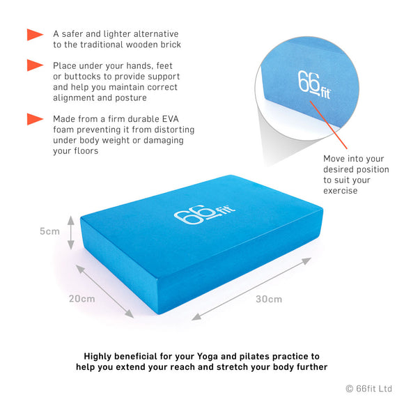 66fit Yoga Block - Hola Wellbeing