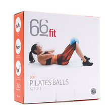Load image into Gallery viewer, 66fit Pilates SoftBalls - Softbälle Set of 2 - Turquoise/Blue, Size 20cm & 25cm | Hola Wellbeing