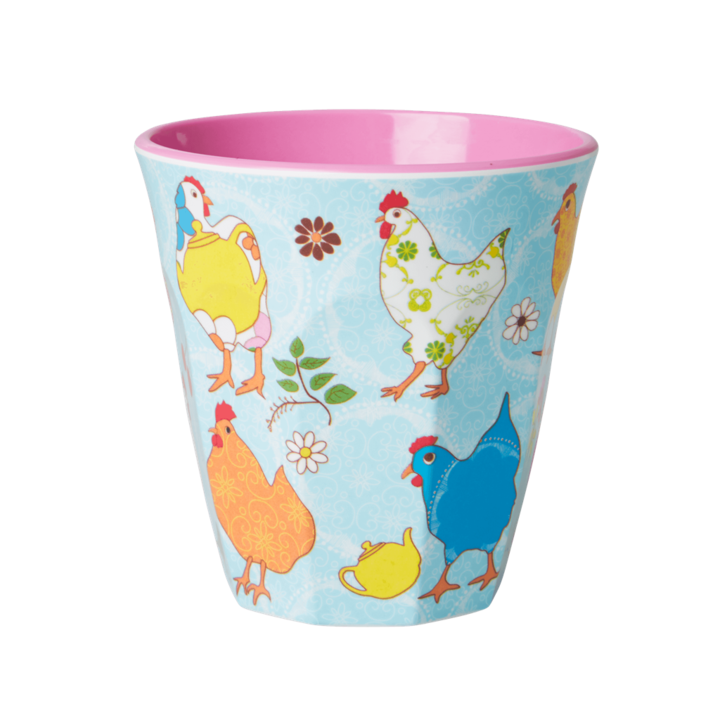 Melamine Cup - Medium in Blue Hen - Rice By Rice
