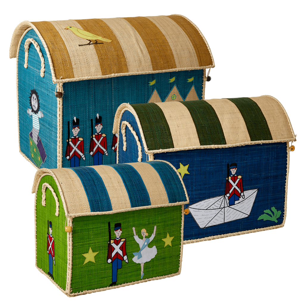 Small Raffia Basket With The Steadfast Tin Soldier Theme - Rice By Rice