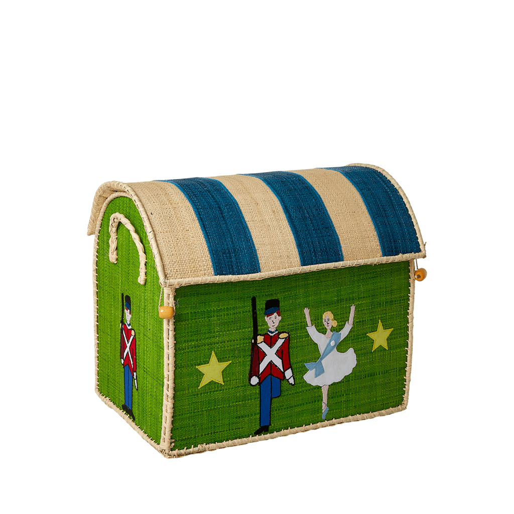 Small Raffia Storage Basket With The Steadfast Tin Soldier Theme - Rice By Rice