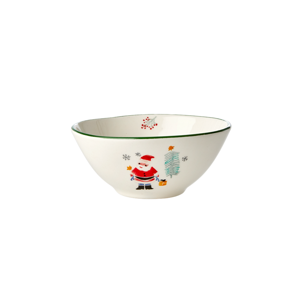 Ceramic Bowl with Santa Claus Print - Rice By Rice
