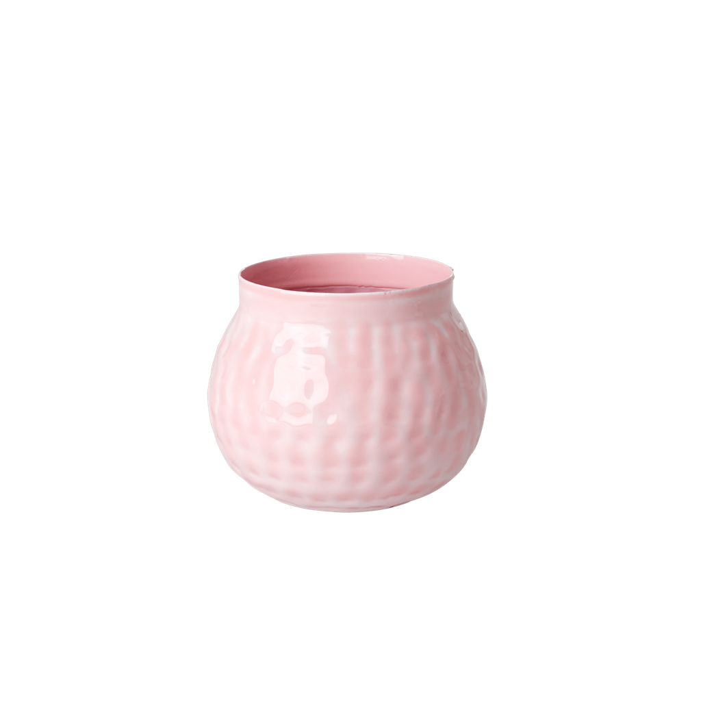 Metal Flower Vase in Flamingo Pink - Small - Rice By Rice