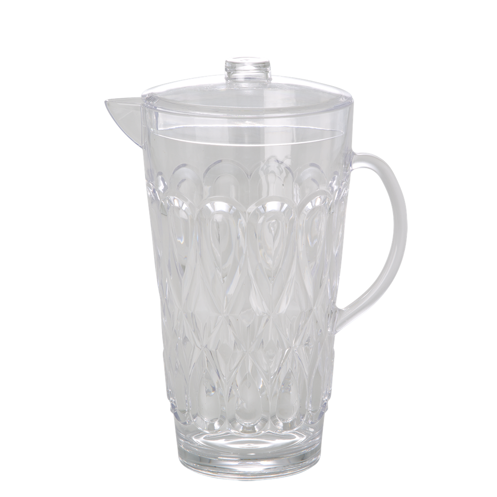 Acrylic Jug with Swirly Embossed Detail Clear - Large