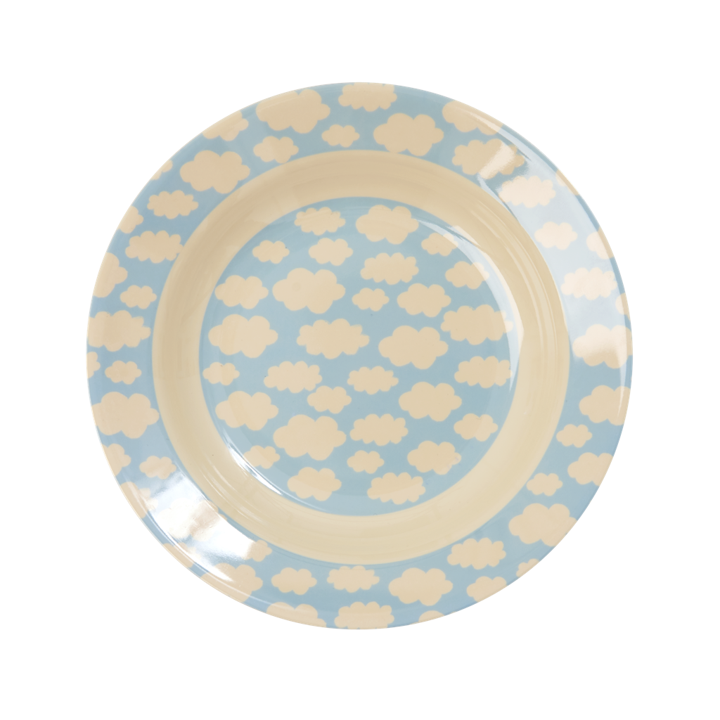 Melamine Kids Bowl with Cloud Print