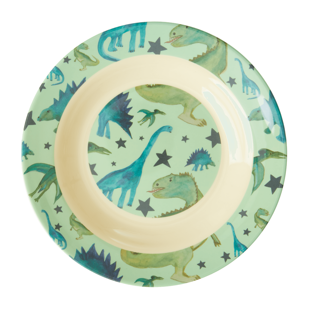 Melamine Kids Bowl in Dinosaurs Print - Rice By Rice