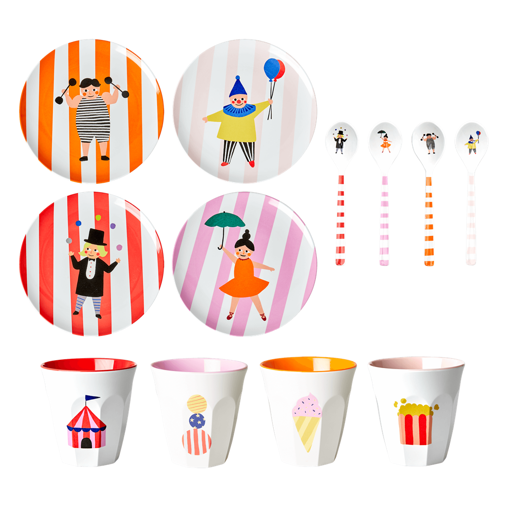 Melamine Kids Dinner Set in Gift Box - Circus - Rice By Rice