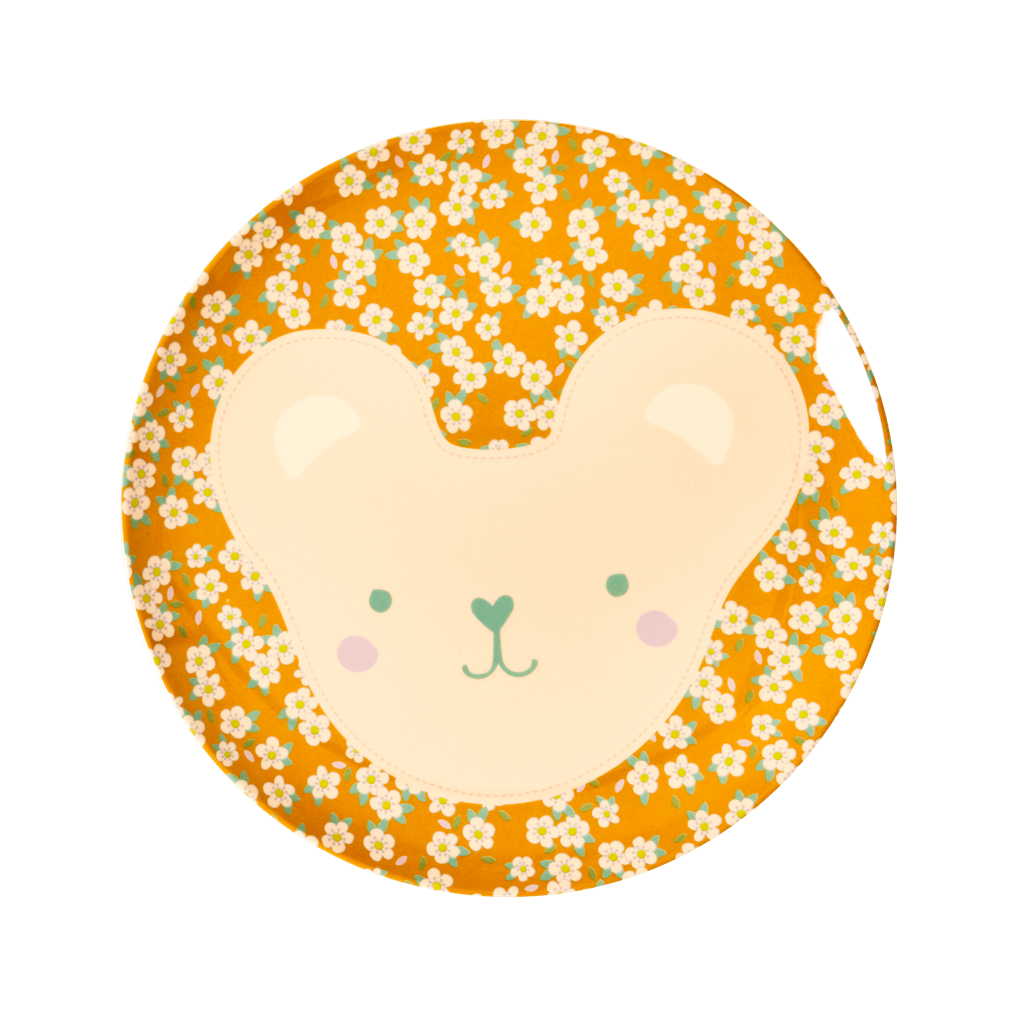 Melamine Kids Plates in 6 Animal Prints - sold individually - Rice By Rice