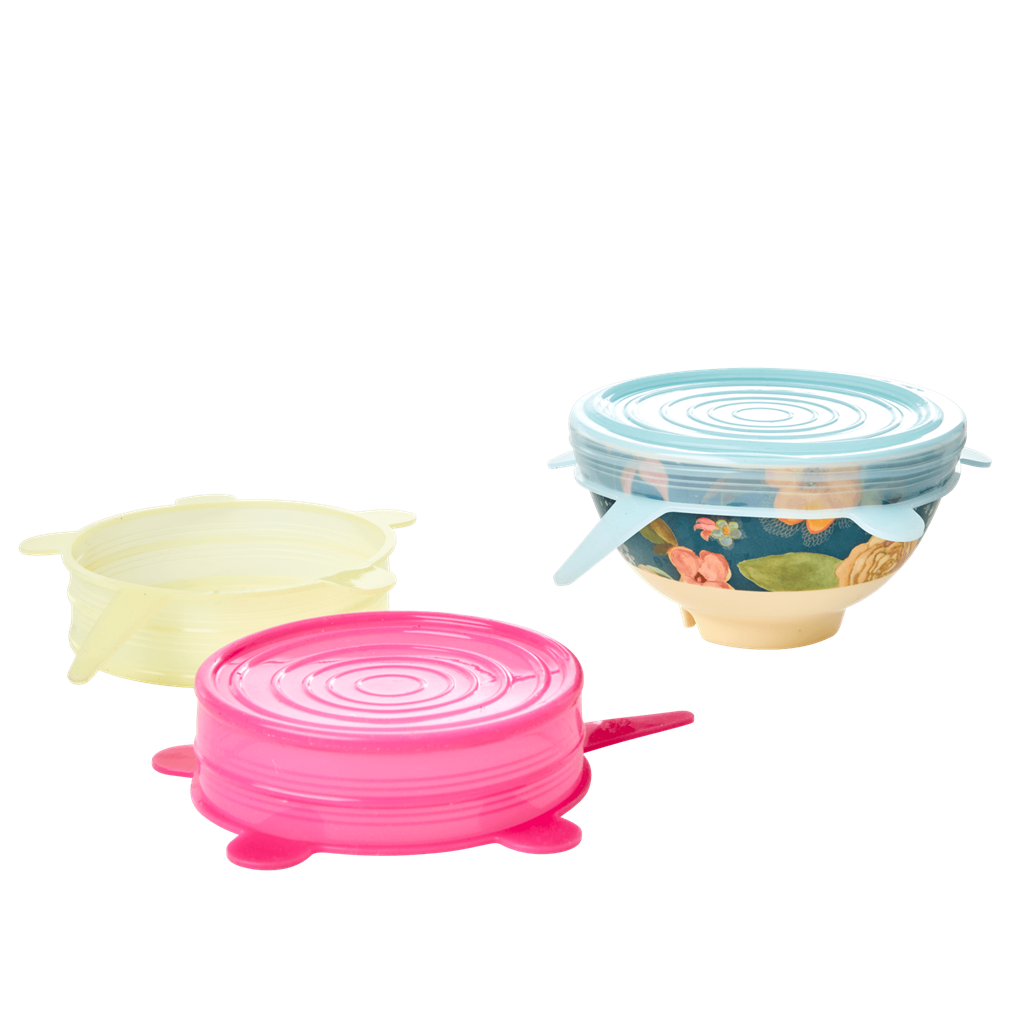 Silicon Lid for Small Melamine Bowl in 3 Assorted Colors - Rice By Rice