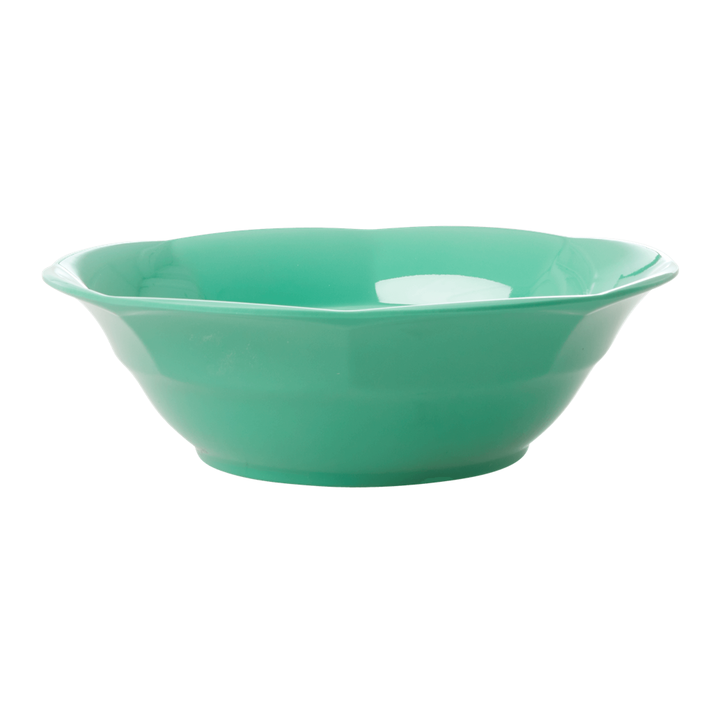 Melamine Soup Bowl in Emerald Green - Rice By Rice