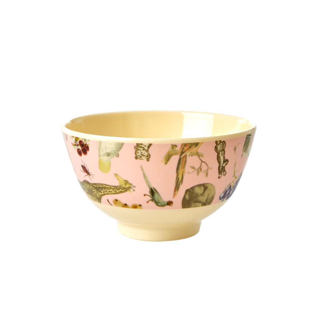 Melamine bowl with Pink Art Print- Small - Joëlle Wehkamp - Rice By Rice