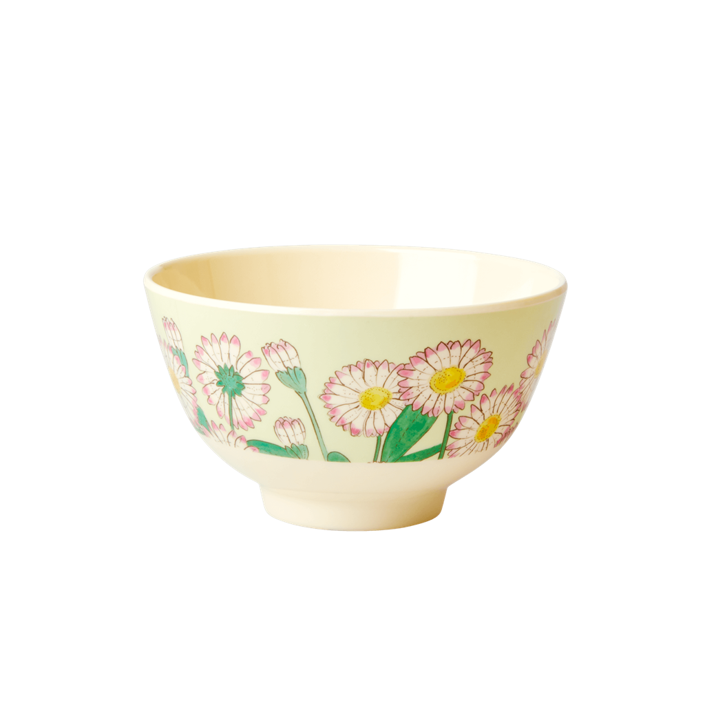 Melamine Bowl with Daisy Print - Small - Rice By Rice