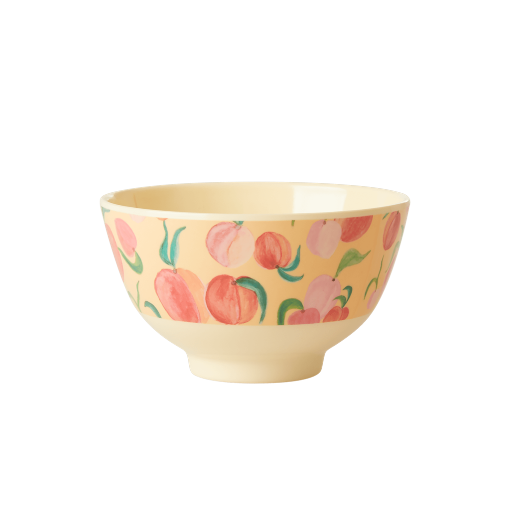 Melamine Bowl with Peach Print - Small - Rice By Rice