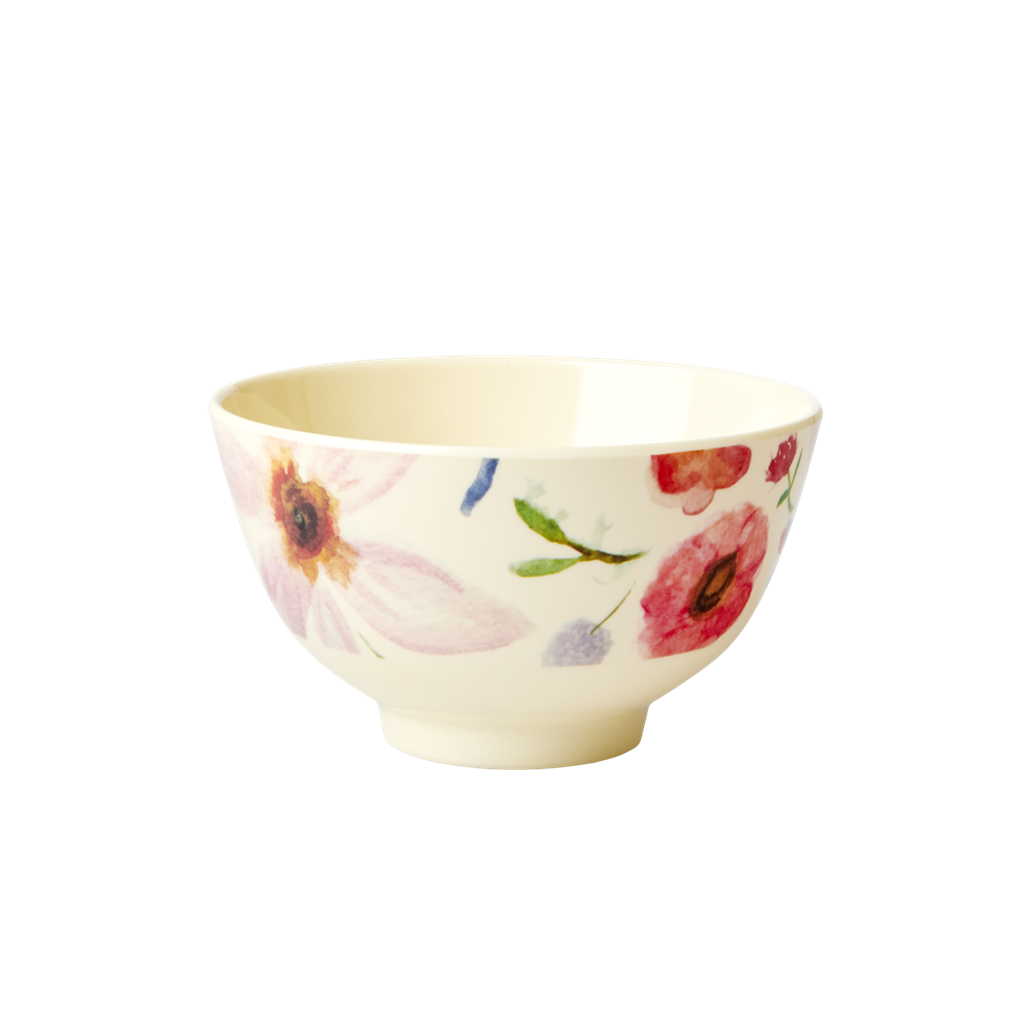 Melamine Bowl with Selma's Flower Print - Small - Rice By Rice