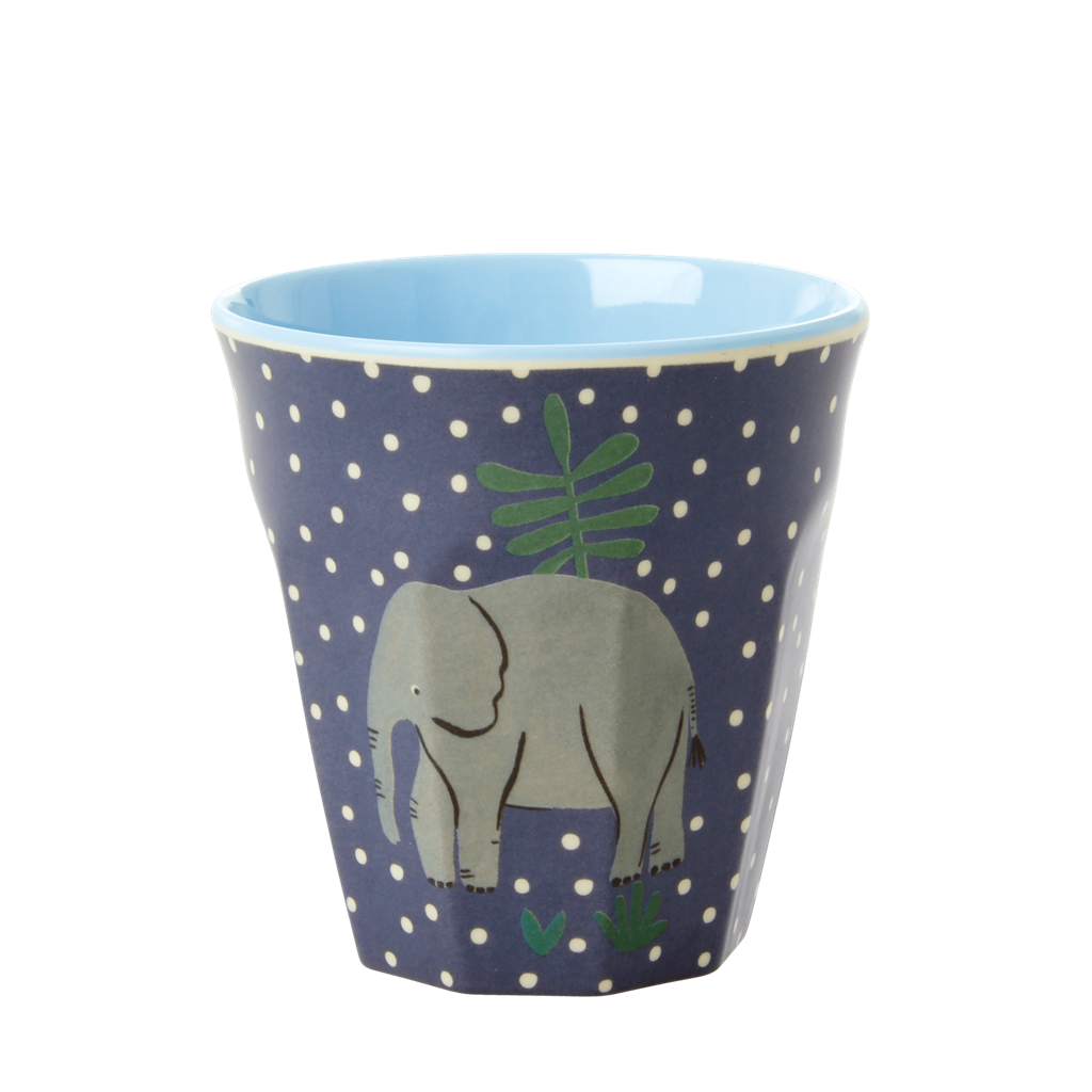 Melamine Cups with Assorted Jungle Print - Small - 6 pcs. in Gift Box - Rice By Rice