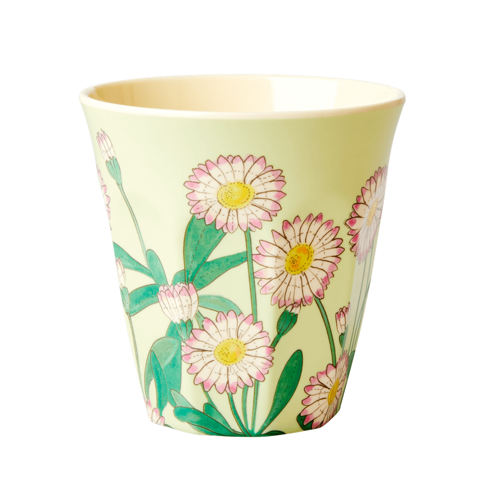 Melamine Cup - Medium in Daisy - Rice By Rice