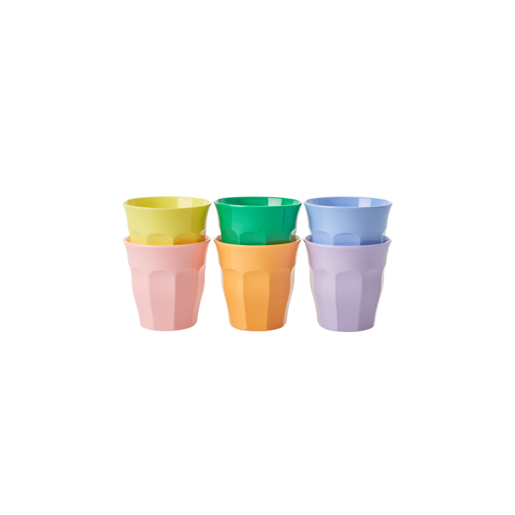 Melamine Espresso Cup in Assorted 'Let's Summer' Colors - 6 pcs.
